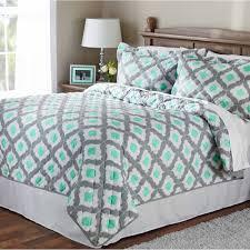Walmart Mainstays Comforter Mainstays Mint Ogee Quilt Walmart Com