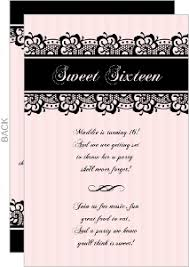 Pink And Black Sweet 16 Decorations Cheap Sweet 16 Birthday Invitations Invite Shop