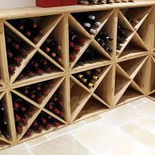 pine wooden wine rack cellar cube 24 bottles 298mm deep