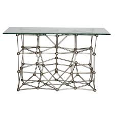 Silver Console Table Molecule Cons Console Tables Tables Collection