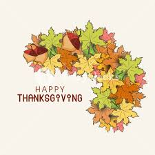 happy thanksgiving day concept with stylish autumn leaves on grey