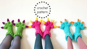 monster slippers crochet pattern pdf kids womens mens