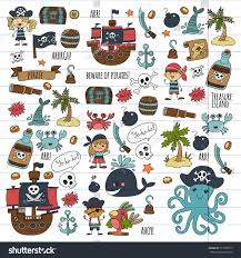 vector pirates children cartoon illustration kids stock vector