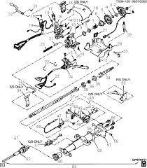 exploded view for the 1997 chevrolet s 10 tilt steering column