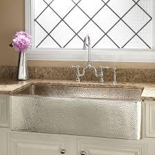 Granite Apron Front Kitchen Sinks Victoriaentrelassombrascom - Hammered kitchen sink