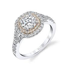 double engagement rings images Rose cushion shaped double halo engagement ring s1100 jpg