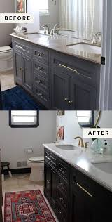 easy weekend project diy painted cabinets the everygirl