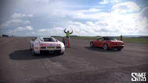 bugatti vs jaguar f type v6 s vs bugatti veyron drag race
