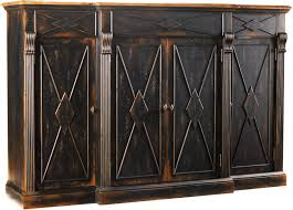 sanctuary 4 drawer console table hooker furniture living room sanctuary 4 door 3 drawer credenza