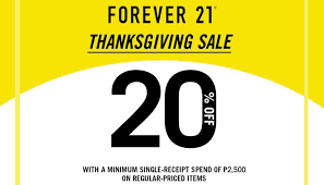 forever 21 thanksgiving sale cdo promos