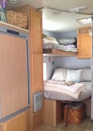 rv bunks bedroom remodel travel trailer camper turned glamper