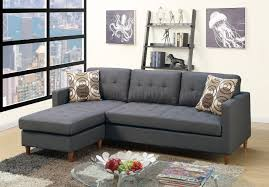 Gray Fabric Sectional Sofa F7094 Reversible Sectional Sofa In Blue Grey Fabric By Boss