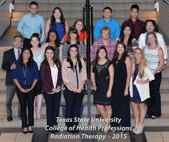 radiation therapy program texas state university