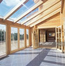 glass roof house glass roof of wooden house stock photo getty images