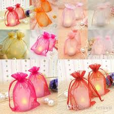tulle bags cheap fashion candy color tulle wedding candy bags 3 sizes multi