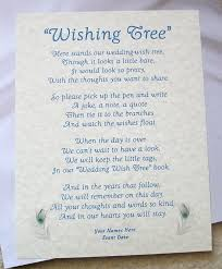 wedding wish tags poems