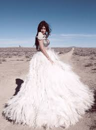 skirt feathers maxi gown wedding dress kylie jenner fashion