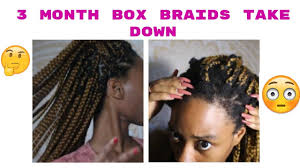 can crochet braids damage your hair what wearing box braids for 3 months did to my hair youtube