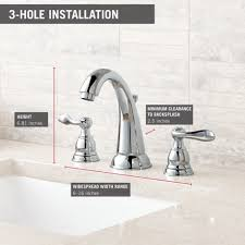 clearance bathroom faucets delta faucet b3596lf windemere polished chrome two handle