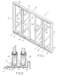glass door track patent us6434789 sliding glass door track engagement and method