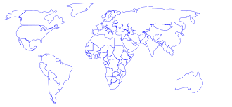 Simple Vector World Map by World Map With Countries Clipart 43