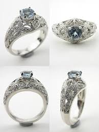 antique aquamarine engagement rings wedding rings 21st bridal world wedding ideas and trends