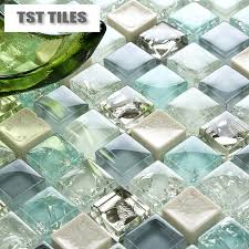 wholesale backsplash tile kitchen 11 sheets lot wholesale sea glass tiles mosaics blue white crackle