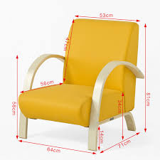sessel klein sobuy einzelsofa relaxsessel armsessel lounge sessel gelb fst26 ge