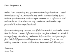 ideas of asking professor for reference letter sample about cover