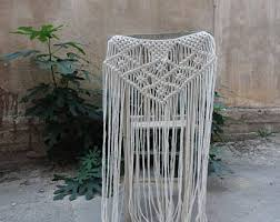 Bridal Shower Chair Macrame Wedding Chair Cover Bridal Shower Decor Macrame