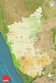 India Physical Map by Physical Map Of Karnataka Satellite Outside