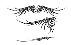 wings and ornament vector