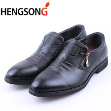 wedding shoes groom hengsong men dress shoes zipper leather luxury fashion groom