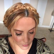 braid headband braided headband updo how to style a crown braid beauty on cut