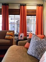 Blue And Orange Curtains Orange Curtains For Living Room Alain Kodsi