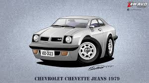 cartoon sports car png chevrolet chevette jeans 1979 cartoon by victorbravodesign on