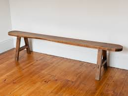 antique trestle style french oak bench vinterior