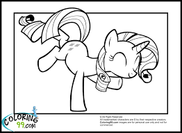 jumping rarity colouring for the girls pinterest rarity