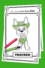 paw patrol tracker coloring pack nickelodeon parents
