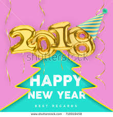 new years streamers 2018 3d happy new year gold stock vector 718919458