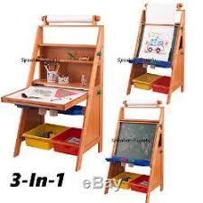 Desk Easel For Drawing Kidkraft Kids Boys Girls Easel Desk Chalkboard Drawing Painting