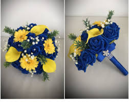 Blue And Gr by Royal Blue Bouquet Etsy