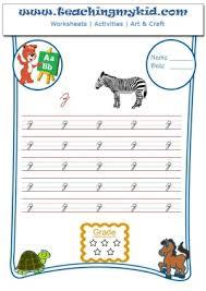 handwriting worksheets for kids write lower cursive letter z