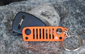 jeep wrangler orange alien sunshade jeep wrangler keychain jk jku grill 304 stainless