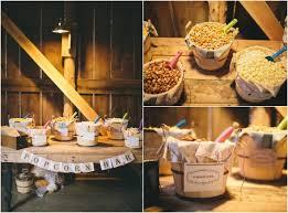 Garretts Popcorn Wedding Favors by Vintage Style Farm Barn Wedding Popcorn Bar Popcorn And