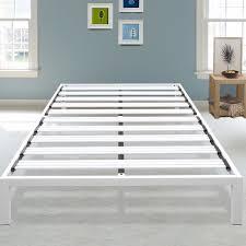 Metal Platform Bed Frame Latitude Run Hulme White Metal Platform Bed Frame Reviews Wayfair