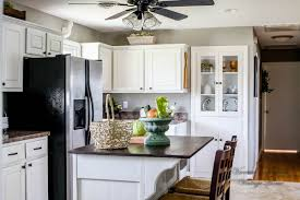What Is The Best Way To Paint Kitchen Cabinets White How I Painted My Kitchen Cabinets Without Removing The Doors A