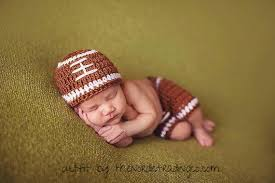 baby boy photo props touchdown baby boy handmade crochet football photo prop