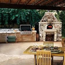kitchen fireplace designs sensational back yard kitchen plans with stone veneer outdoor