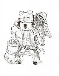 hellboy coloring pages tim odland